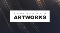 [抽象简约]现代创意工作总结计划商务汇报模板