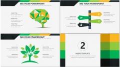 黄绿简洁风商务PPT模板示例4