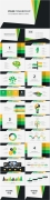 黄绿简洁风商务PPT模板示例8