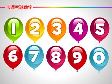 【卡通气球数字ppt模板】-pptstore