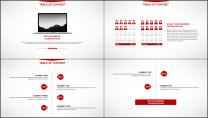 大气美观红色企业公司工作总结PPT模板示例6