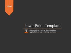 橙黑简洁抽象艺术PPT模板