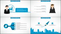 蓝色科技IT互联网公司企业商务工作PPT模板示例6