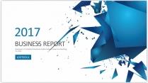 创意蓝色总结报告工作计划商务策划模板2