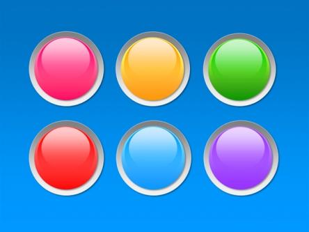 ppt素材 ppt元素 六色超质感彩球