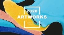 【抽象艺术】现代商务工作总结汇报计划策划模板
