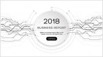 经典黑白创意点线总结报告工作计划商务策划模板05