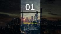 【灰蓝简洁】现代城市风格商务年终报告示例3