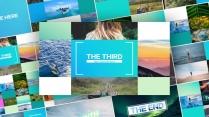 【动画】优雅清新的相册展示照片墙动画PPT模板