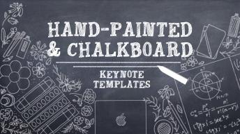 手绘黑板keynote模版