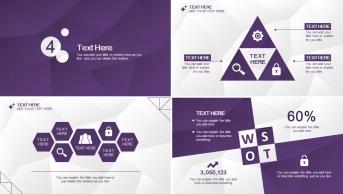 【低多边形02】大气高贵紫色简约实用商务报告示例6