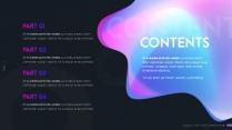 【變幻】夢幻藍紫漸變色科技ppt模板示例3