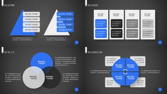 【深海蓝】蓝色系典藏动画版PPT模板示例7
