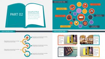 多彩实用教育PPT模板示例4