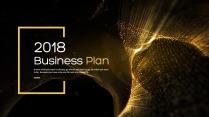 【完整框架】创意金色条带商业计划书策划书模板02
