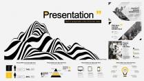 欧美 黑白 极简 # 创意数据报告模板示例4