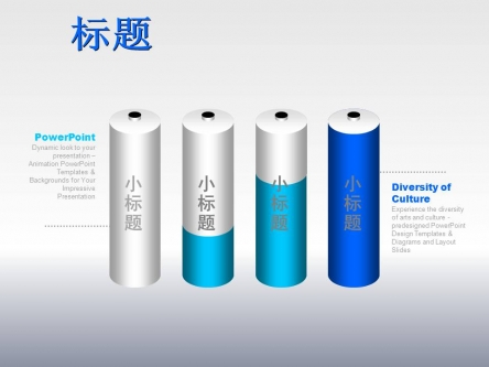 ppt素材 ppt图表 电池形状对比图表  ppt制作,ppt图标 爱ppt,爱设计