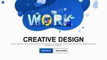 【商务大杀器】创意插画科技公司企业工作PPT示例2