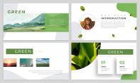 【简约商务】动态·绿色环保主题商务汇报PPT模板示例3
