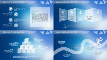 IOS纯净之风2-简约透彻总结汇报策划多用型模板示例5
