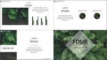 【E】绿色简约深林气息商务模板示例6