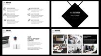 【耀你好看】黑白质感经典商业计划书示例6