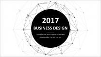 【点线设计】大气简约商务通用报告模板-03|黑色