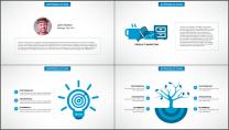 蓝色科技IT互联网公司企业商务工作PPT模板示例3