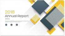 创意几何黄色总结报告工作计划商务策划模板06