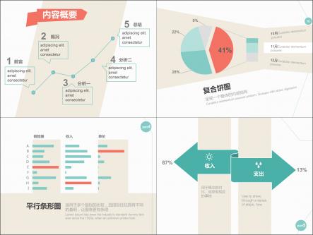 【【数据分析系列】简约3色数据分析报告模板
