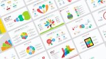 【多彩扁平商务图表25页】创意关系图表 简洁多色