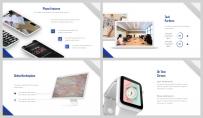 【深蓝极简】大气极简房产金融商业计划书示例6