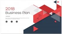 【完整框架】现代创意几何商业计划书策划书模板05