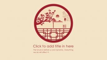 宅寂系列18:喜庆红国际范中国风大气提案工作总结示例4