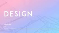 【风尚】粉蓝渐变清新时尚工作汇报PPT模板示例2