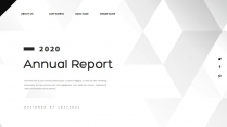【创意几何】高端黑灰总结报告商务展示模板