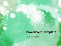 【倬彼昊天】绿意 艺术 文艺 PPT模板