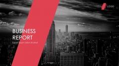 【红黑风格】大气网页风格商业汇报