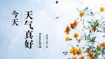 【天气真好】春季小清新商务汇报模板示例2