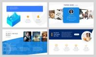【潮流商務】2.5D微立體·藍色時尚互聯網科技模板示例3