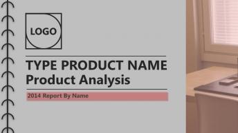 创意简约/多图形/工作报告产品分析/黑灰红基调模板