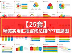 【25套】精美实用汇报咨询总结PPT信息图