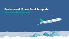 【翱翔在自由的天际】卡通航空风格实用大气清新模板
