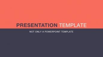 经典本色简洁实用商务PPT模板