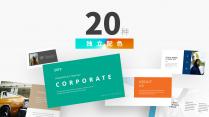 【極簡風】多配色·極致圖文雜志風PPT商務模板示例4