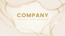 【现代简约】金色抽艺术创意商务汇报工作计划模板