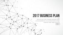 【耀你好看】点线灰白精致商业计划书5