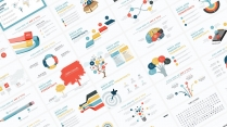 【多彩商务图表30页05】创意关系图表 简约多色