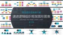 简约多彩组织结构架构团队框架图形图表PPT(10)示例2