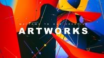 抽象艺术视觉冲击可视化多用途商用模板